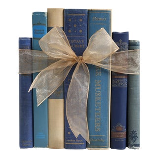 Vintage Book Gift Set: French Bleu Classics, S/7