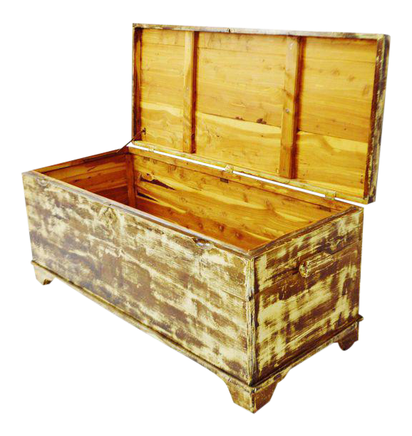 Vintage Shabby Chic Cedar Chest Toy Chest Coffee Table