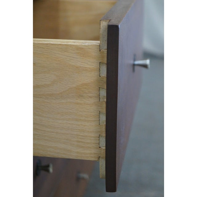 Stanley Mid Century Modern Walnut Paul McCobb Style Dresser - Image 9 of 10