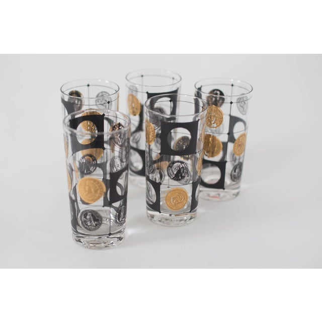 Mid-Century Coin Glasses- Set of 5 - Image 3 of 5