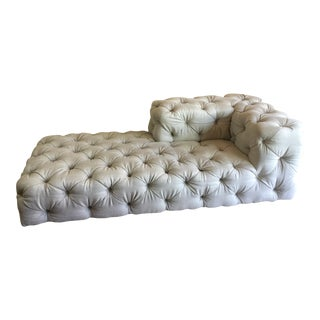 Restoration Hardware Soho Tufted Chaise Lounge