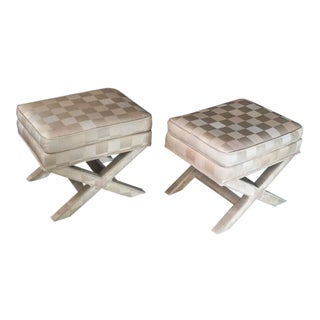 Billy Baldwin Style X Benches Ottomans – A Pair