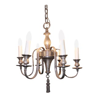 Silver Plated Six Light Chandelier