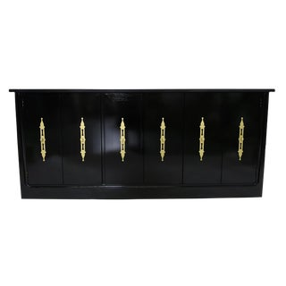 RWAY Black Hollywood Regency Style Credenza