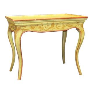 Italian Vintage Hand Painted End Table