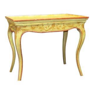 Italian Vintage Hand Painted End Table