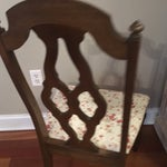 Image of Lenoir Broyhill Vintage Pecan Chairs - Set of 6