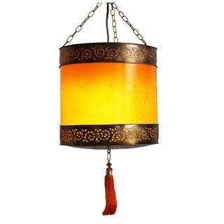 Moroccan Bronze Drum Lantern