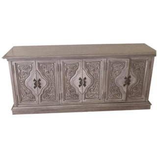 Vintage Console in Shabby Chic Gray