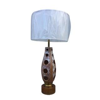 Large 1960's Modern Rembrandt Ceramic Lamp