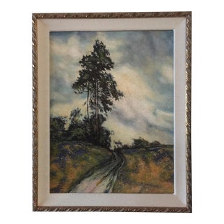 Transitional Trees & Sky Framed Oil Painting