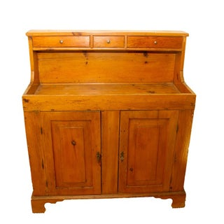 Antique Early American Pine Dry Sink
