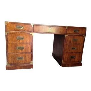 Henredon Mid-Century Campaign Partner's Desk