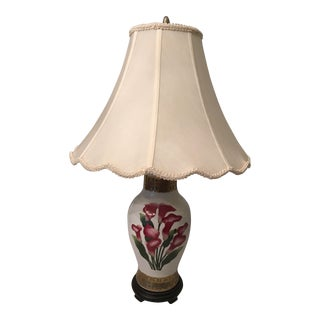 Hand Painted Porcelain Lamp