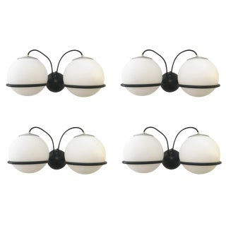 Two Pairs of Large Sconces by Gino Sarfatti for Arteluce