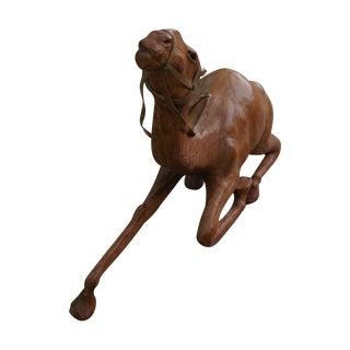 Vintage Leather Kneeling Camel