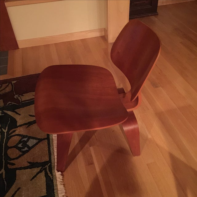 Eames Cherry Plywood Lounge Chair - Image 3 of 9