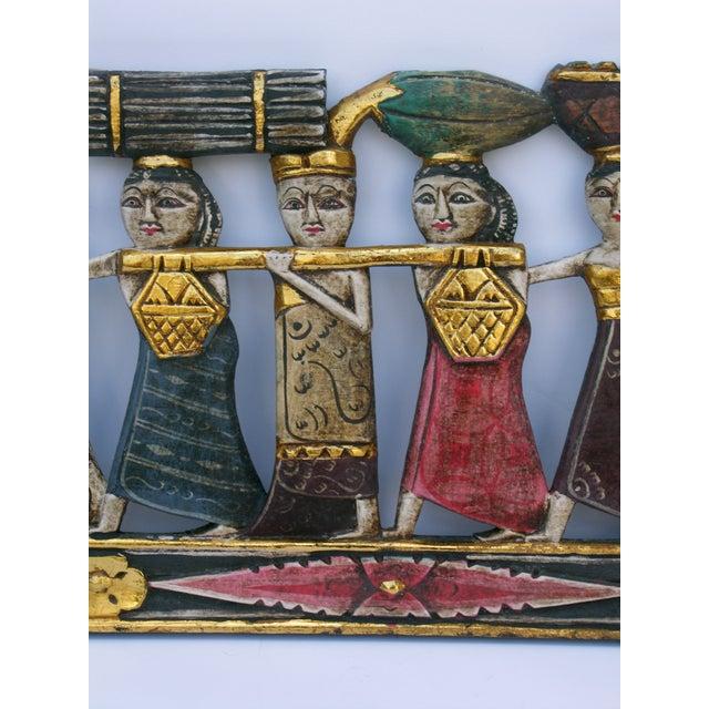 Image of Balinese Procession Panel Wall Art