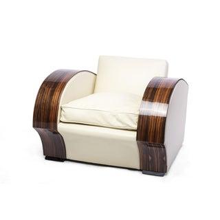 1930s Macassar South African Club Chair