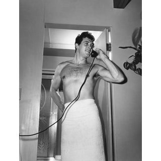 "1952 Sid Avery ""Rock Hudson at Home"" Photograph"