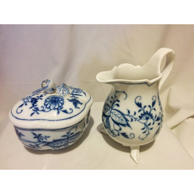 Meissen Blue Onion Cream & Sugar Set - Image 2 of 10