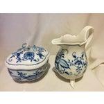 Image of Meissen Blue Onion Cream & Sugar Set