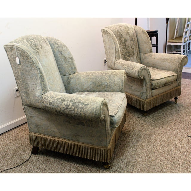 Drexel Heritage Lillian August Club Chairs - Pair - Image 3 of 11