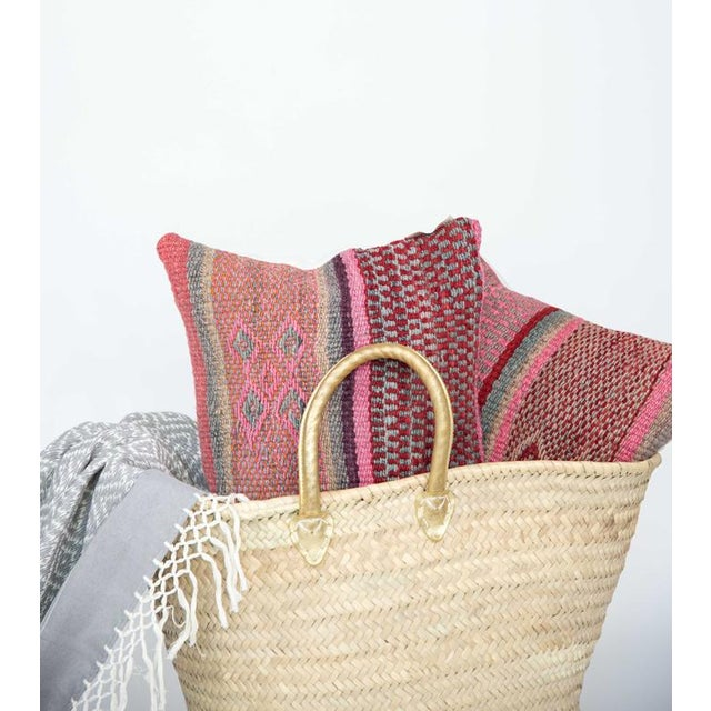 Pink/Red Handwoven Peruvian Pillow - Image 2 of 4
