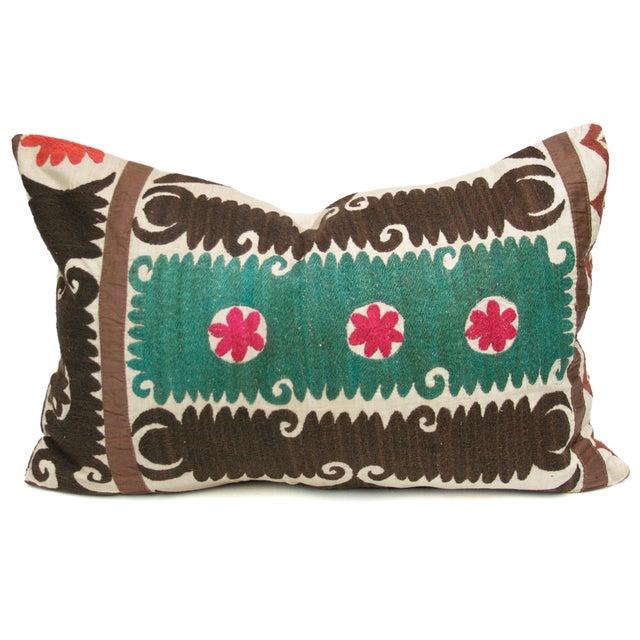 Vintage Suzani Verde Pillow - Image 1 of 3