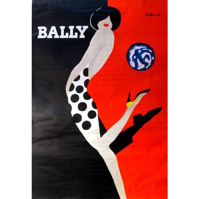 1980s Vintage Bally Shoe Ad, Bernard Villemot - Image 1 of 3