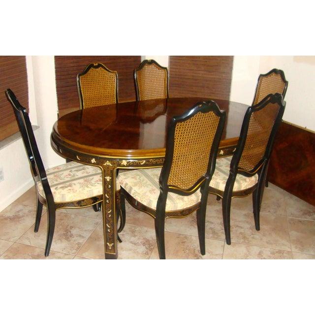drexel cane back dining set set of 6 chairish