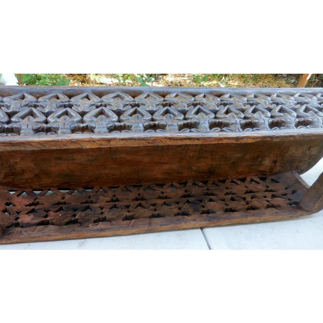 Carved African Coffee Table Chairish