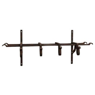 Wrought Iron Hook and Shelving Unit