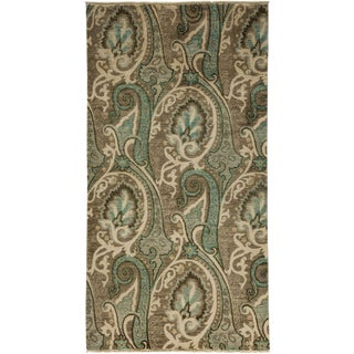 "Suzani Hand Knotted Area Rug - 4' 3"" X 7' 10"""