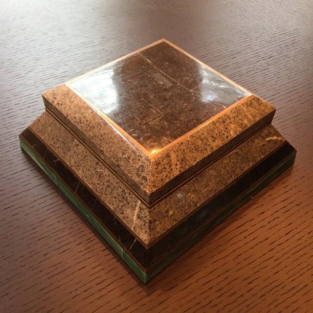 Image of Vintage Modern Brass Detailed Box