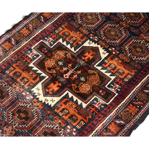Hand Knotted Persian Baluch Rug - 3′3″ × 6′10″ - Image 5 of 9