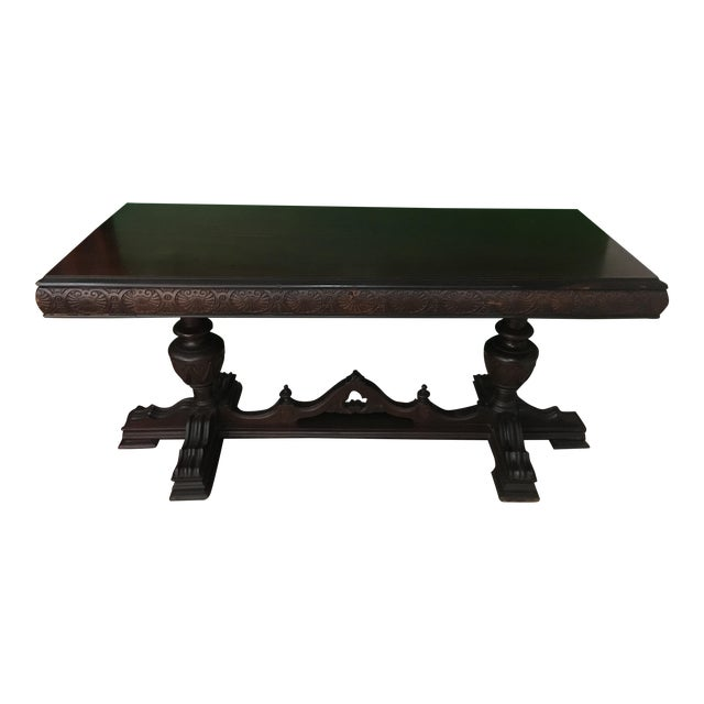 Antique Adjustable Library Table - Image 1 of 10