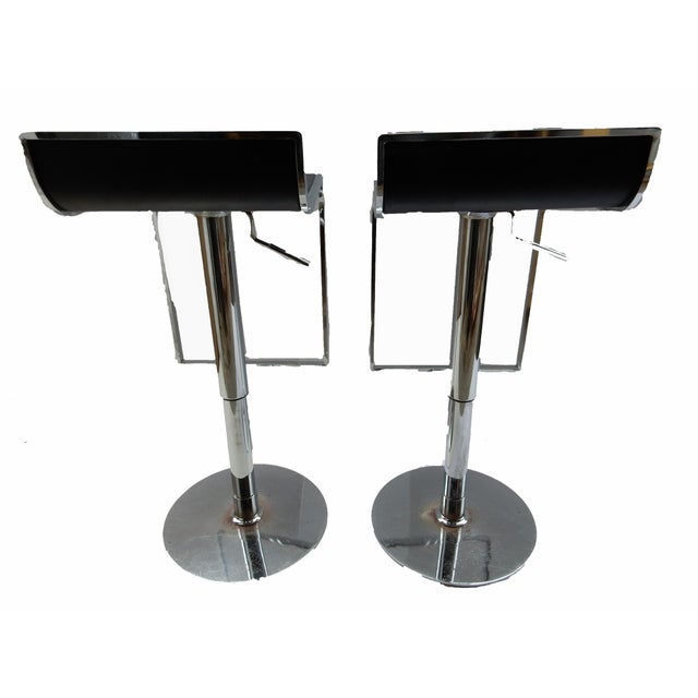 Chrome Swivel Counter/Bar Stools - A Pair - Image 2 of 6