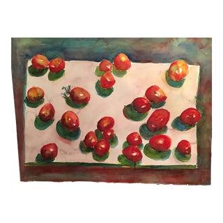 """Original """"Tomatoes"""" Watercolor Painting"""