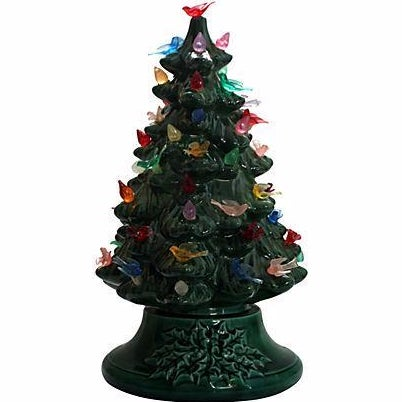 Image of Vintage Light-Up Ceramic Christmas Tree