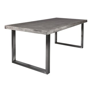 Dark Gray Concrete Dining Table