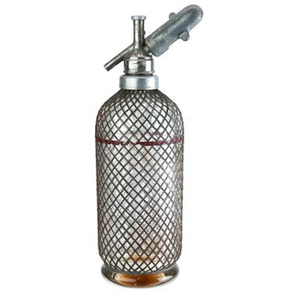 French Mesh-Covered Seltzer Bottle