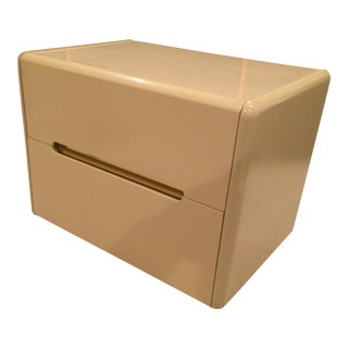 Lane Tan Lacquered Nightstand