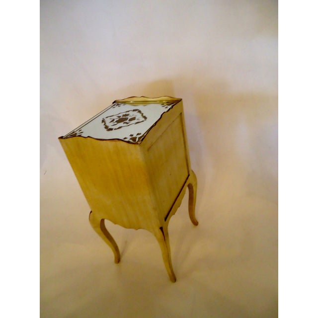 Image of Mirrored French Side Table Night Stand