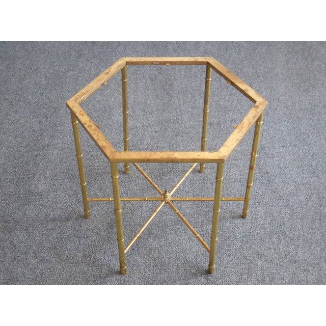 Image of Brass Side Tables by Mastercraft - Pair