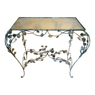 Vintage Rose Vine Iron Table