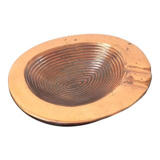 Mid-Century Copper Ceramic Ashtray