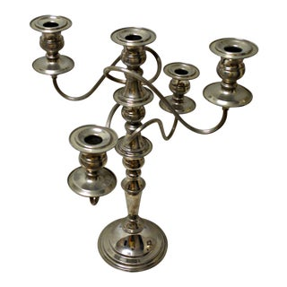 Game of Thrones Style Silver Plated British Candelabra