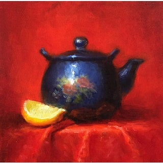 Teapot & Lemon Slice Painting