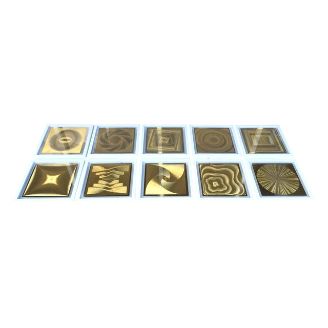 Image of French Metallic Style Abstract Prints - 10